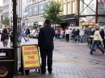 A Street Preacher...