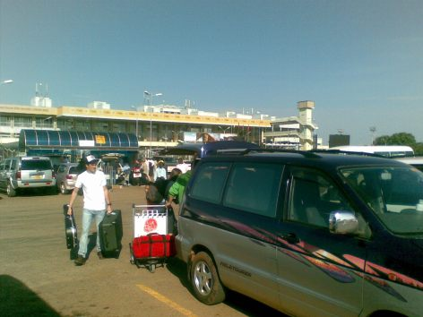 Landing at Entebbe Airport