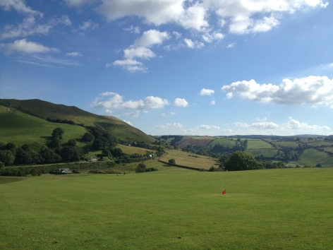Blue sky line in Powys